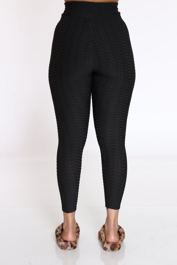 Women's Rouched Active Legging - Black