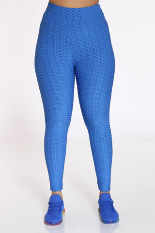 Women's Rouched Active Legging - Royal-VIM.COM