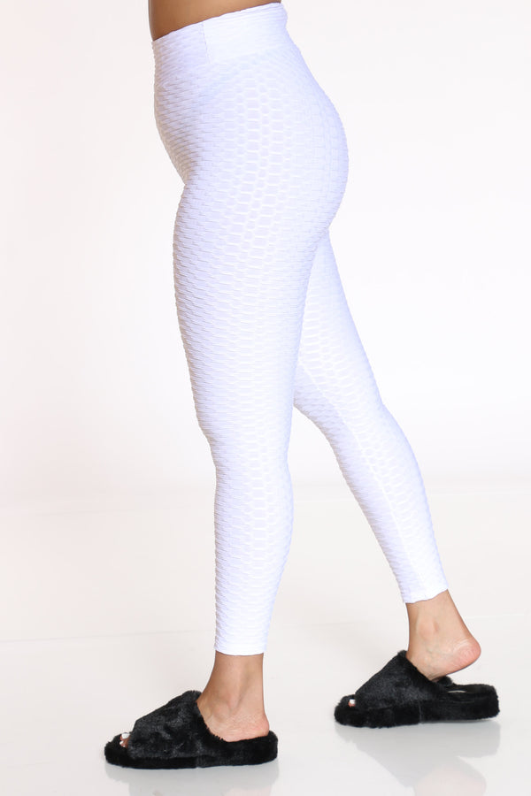 Women's Rouched Active Legging - White