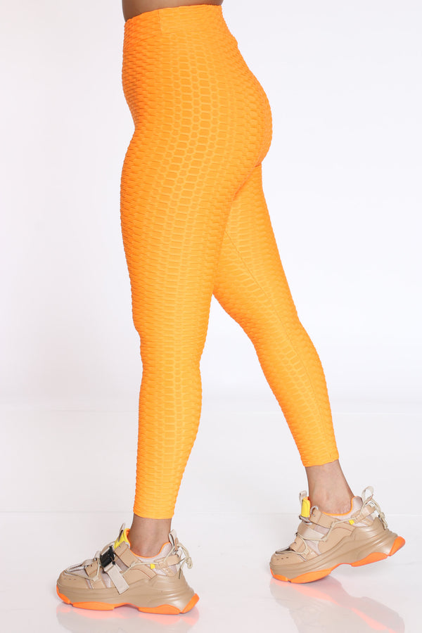 Women's Rouched Active Legging - Orange