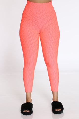 Women's Rouched Active Legging - Pink-VIM.COM