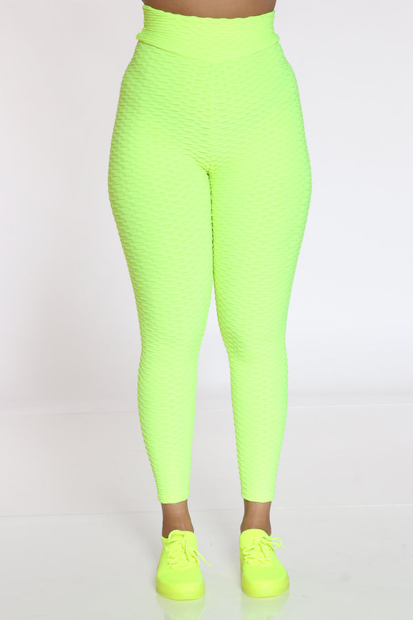 Women's Rouched Active Legging - Green-VIM.COM