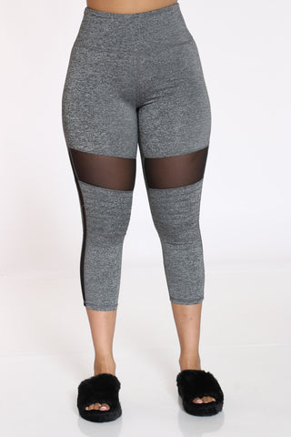Women's Moto Active Legging - Grey-VIM.COM