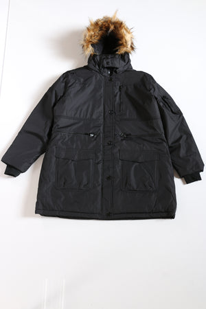 Women's Nylon Hood Jacket - Black-VIM.COM