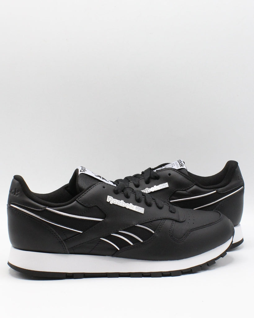 REEBOK Men'S Classic Leather Mu Sneaker - Black Grey - Vim.com