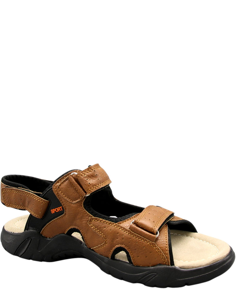 VIM Men'S Strap Outdoors Sport Sandal - Tan - Vim.com