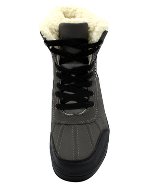 NAUTICA Men'S Lockview Fur Boot - Grey - Vim.com