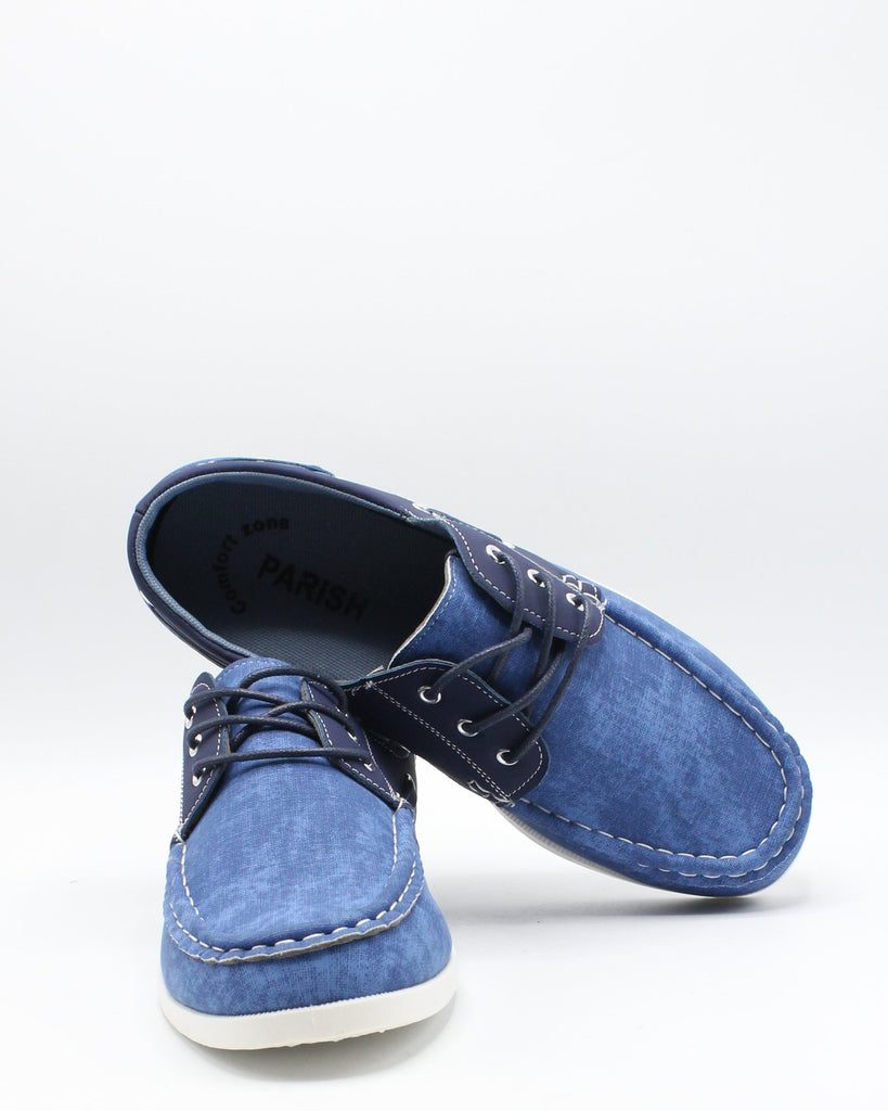 PARISH NATION Men'S Boat  Shoe - Blue - Vim.com