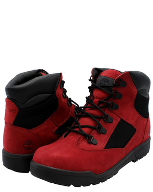 TIMBERLAND 6-Inch Field Boot (Pre School) - Red - Vim.com