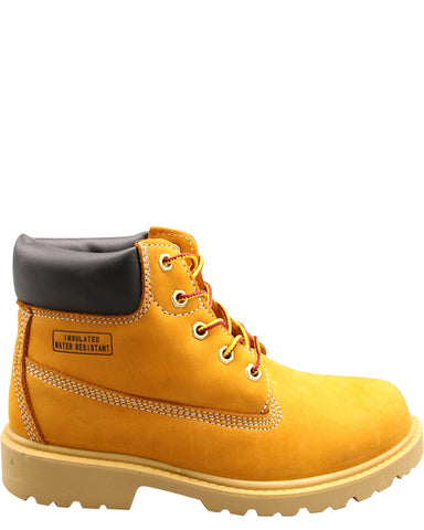 VIM Boys' 6 Inch Work Boots (Pre School) - Wheat - Vim.com