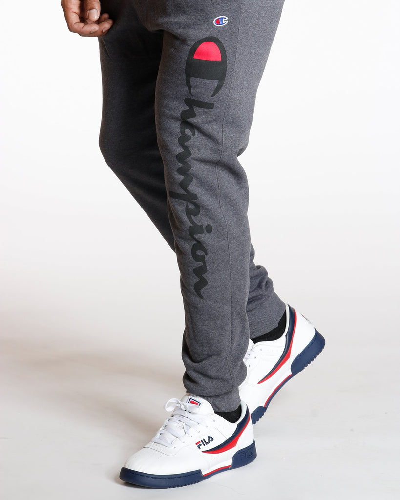 CHAMPION Power Blend Script Fleece Jogger - Grey - Vim.com