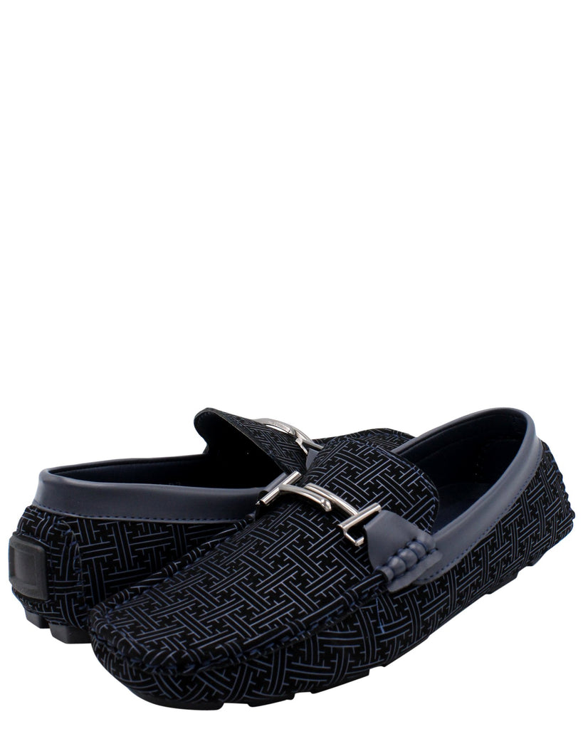 VIM Men'S Driving Moc Buckle Shoe - Navy - Vim.com