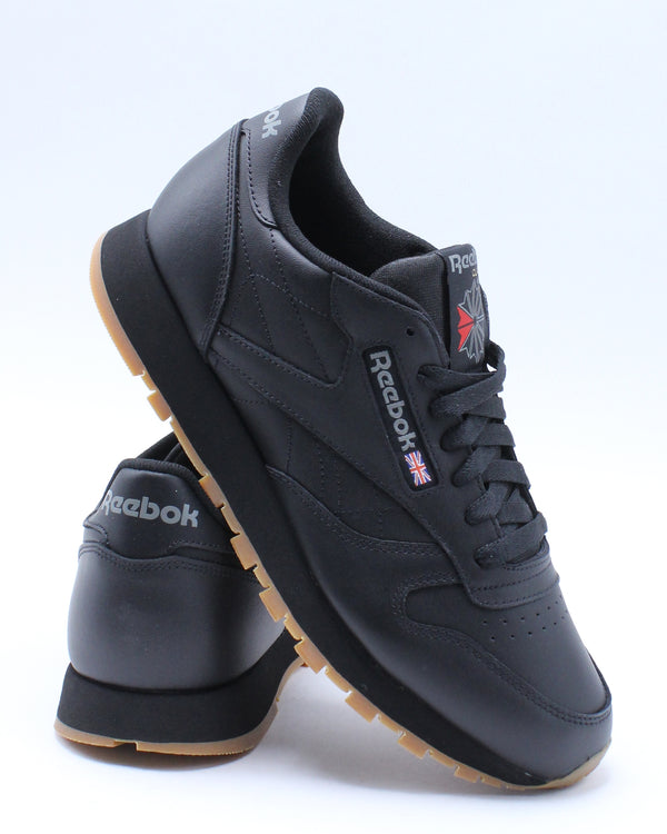 REEBOK-Men's Classic Leather Gum Sneaker - Black-VIM.COM