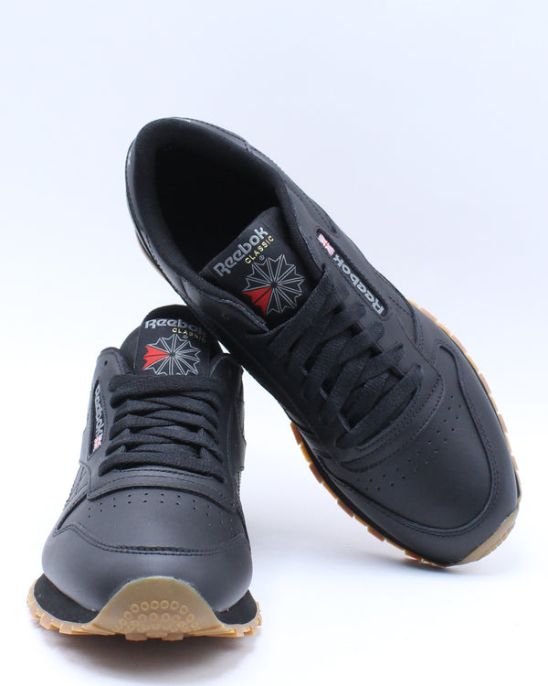 Men's Classic Leather Gum Sneaker - Black