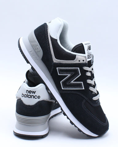 NEW BALANCE-Men's Ml 574 Running Sneaker - Black-VIM.COM