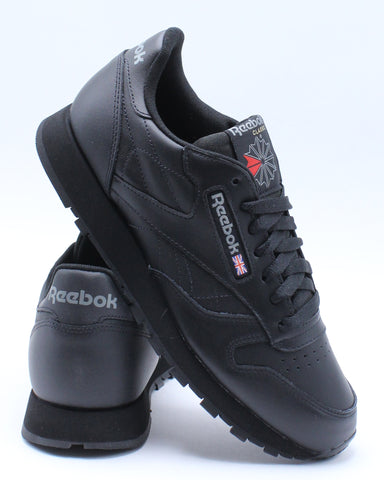 REEBOK-Men's Classic Leather Low Sneaker - Black-VIM.COM