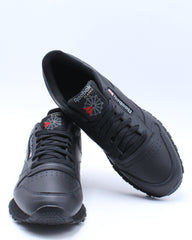 Mens Classic Leather Low Sneaker - Black
