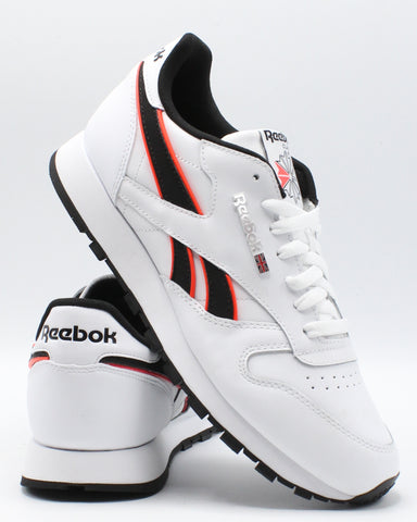 REEBOK-Men's Classic Leather Mu Sneaker - White Red Black-VIM.COM