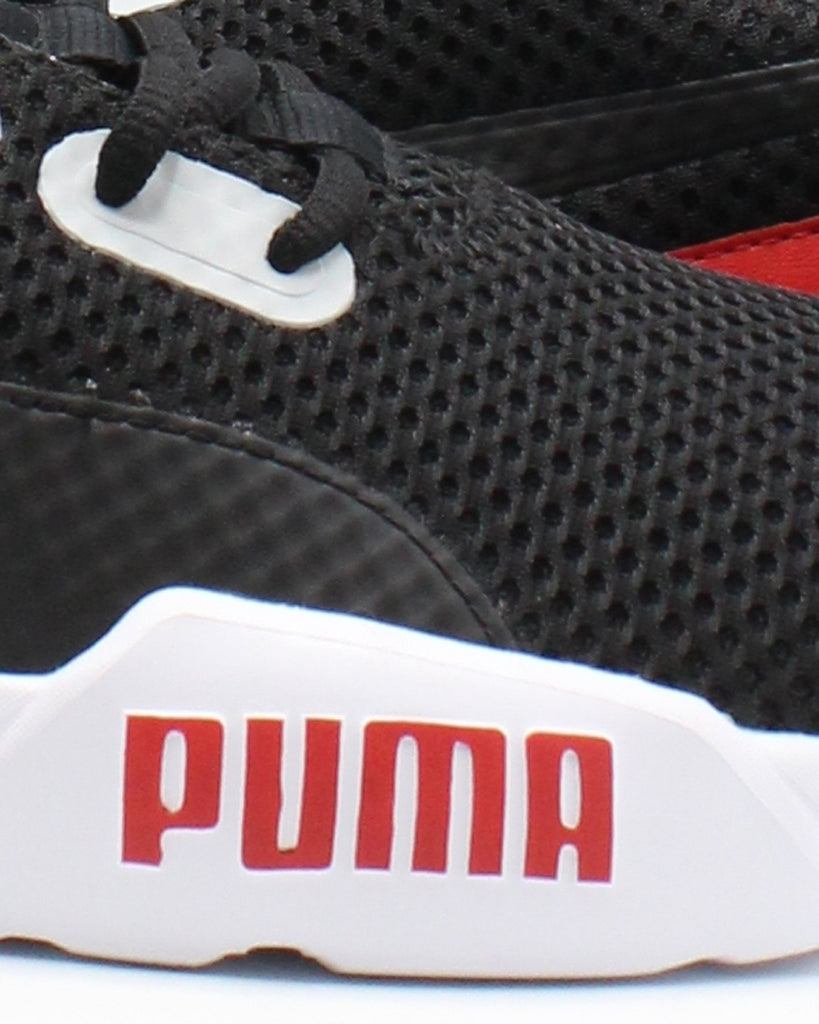 PUMA Men'S Cell Phase Primary Sneaker - Black Red Gum - Vim.com