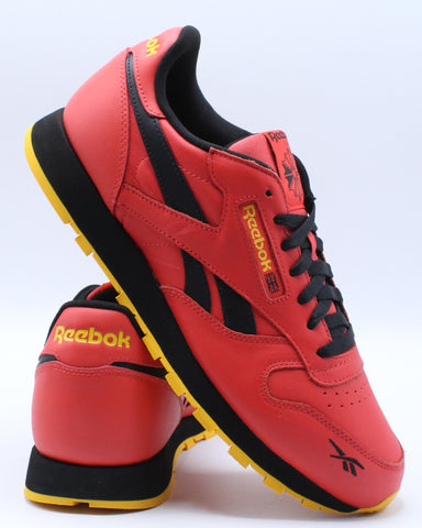 REEBOK-Men's Classic Leather Mu Sneaker - Red Black Gold-VIM.COM