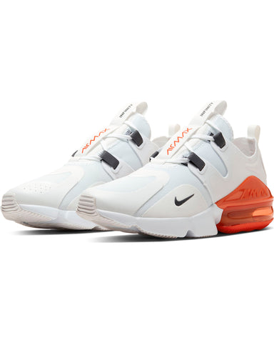 Men's Nike Air Max  Infinity Sneaker - White Grey Orange