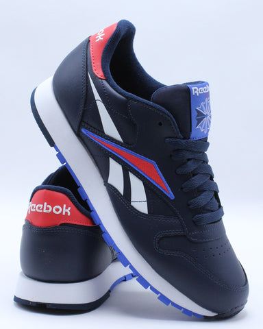 REEBOK-Men's Classic Leather Mu Sneaker - Navy Red White-VIM.COM