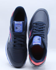 Mens Classic Leather Mu Sneaker - Navy Red White
