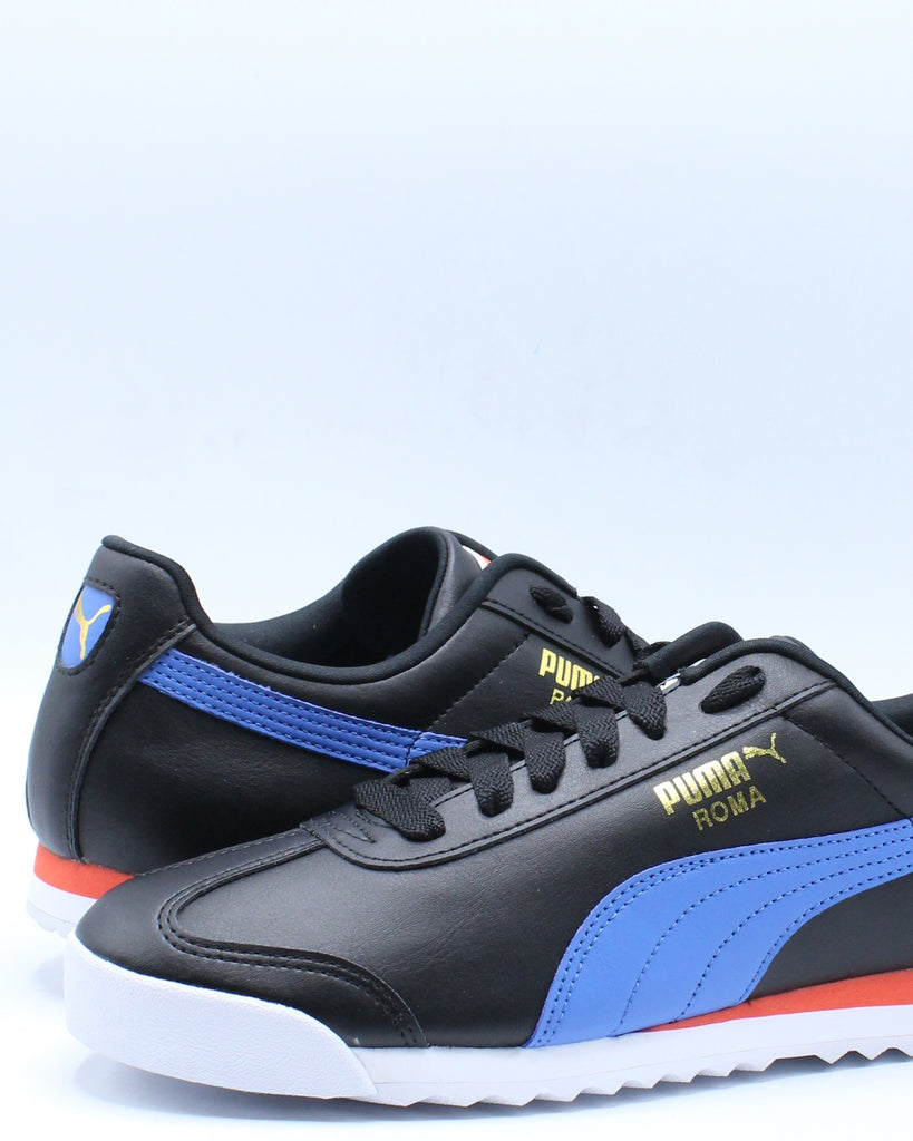 Mens Roma Basic Sneaker - Black Blue Red