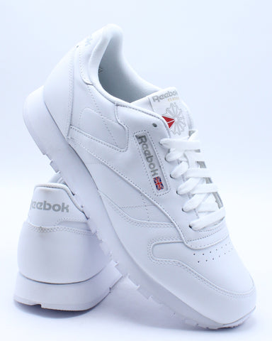 REEBOK-Men's Classic Leather Sneaker - White-VIM.COM