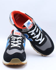 Mens Ml 574 Sv Low Top Sneaker - Black Blue