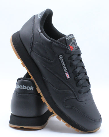 REEBOK-Men's Classic Leather Gum Sneaker - Black Gum-VIM.COM