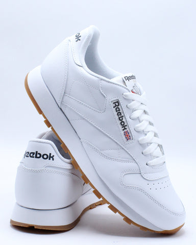 REEBOK-Men's Classic Leather Gum Sneaker - White Gum-VIM.COM