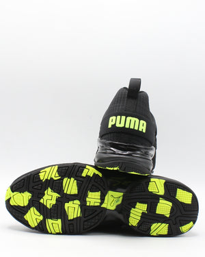 PUMA Men'S Axelion Rip Sneaker - Black Yellow - Vim.com