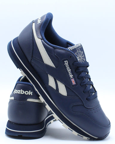 REEBOK-Men's Classic Leather Mu Sneaker - Blue-VIM.COM