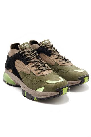 SNKR PROJECT-Men's Canal Sneaker - Olive Black-VIM.COM