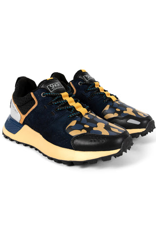 SNKR PROJECT-Men's Duane Sneaker - Navy Yellow-VIM.COM