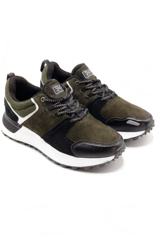 SNKR PROJECT-Men's Duane Sneaker - Olive Black-VIM.COM