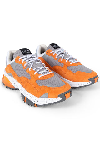 SNKR PROJECT-Men's Prospect Park Sneaker - Grey Orange-VIM.COM
