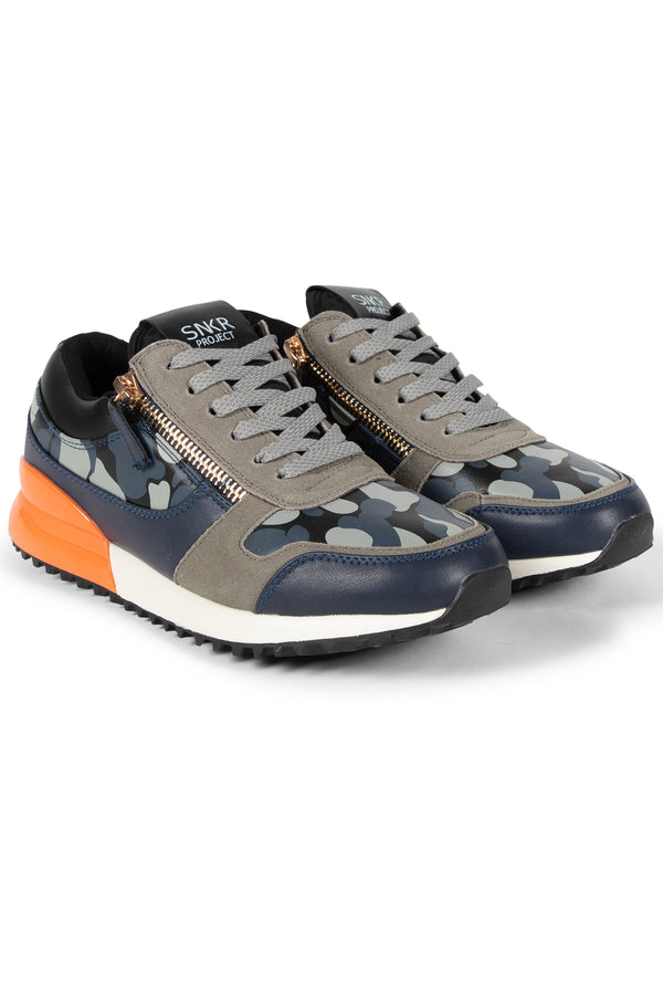 SNKR PROJECT-Men's Rodeo Sneaker - Grey Camo-VIM.COM