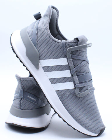 ADIDAS-Men's U Path Run Sneaker - Grey White-VIM.COM