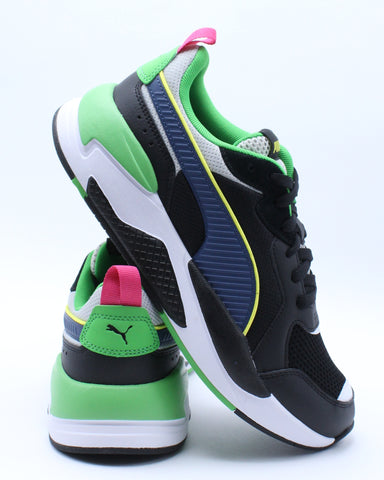 PUMA-Men's X Ray Sneaker - Black Green-VIM.COM