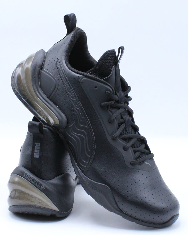 PUMA-Men's Lcdcell Challenge Perforated Shoe - Black Grey-VIM.COM