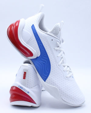 PUMA-Men's Lcdcell Challenge Perforated Shoe - White Blue-VIM.COM