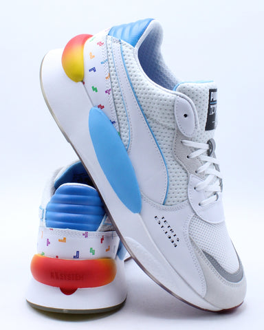 Men's x Tetris RS Sneaker - White Blue
