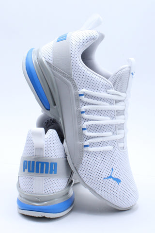 Men's Axelion Perforated Shoe - White Blue