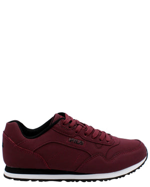 FILA-Men's Cress Low-Top Sneaker - Burgundy-VIM.COM