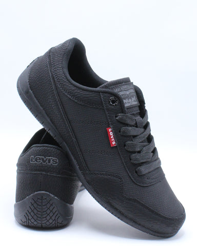LEVI'S-Men's Rio Tumbled Wax Sneaker - Black-VIM.COM