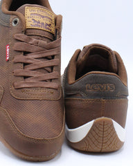 Mens Rio Tumbled Wax Sneaker - Tan Brown