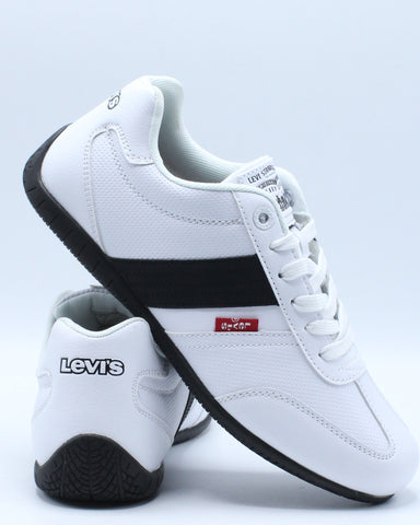 LEVI'S-Men's Solano Ul Perforated Sneaker - White Black-VIM.COM