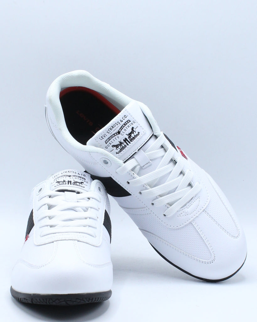 Mens Solano Ul Perforated Sneaker - White Black